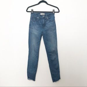 """Madewell 10"""" High Rise Skinny Jeans with Raw Hem"""